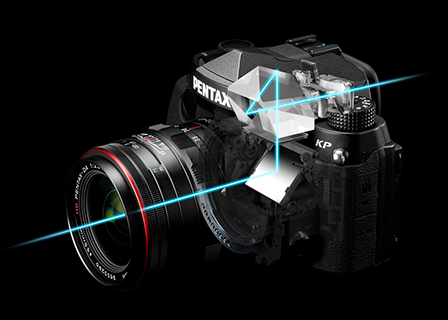 Optical viewfinder with glass pentaprism
