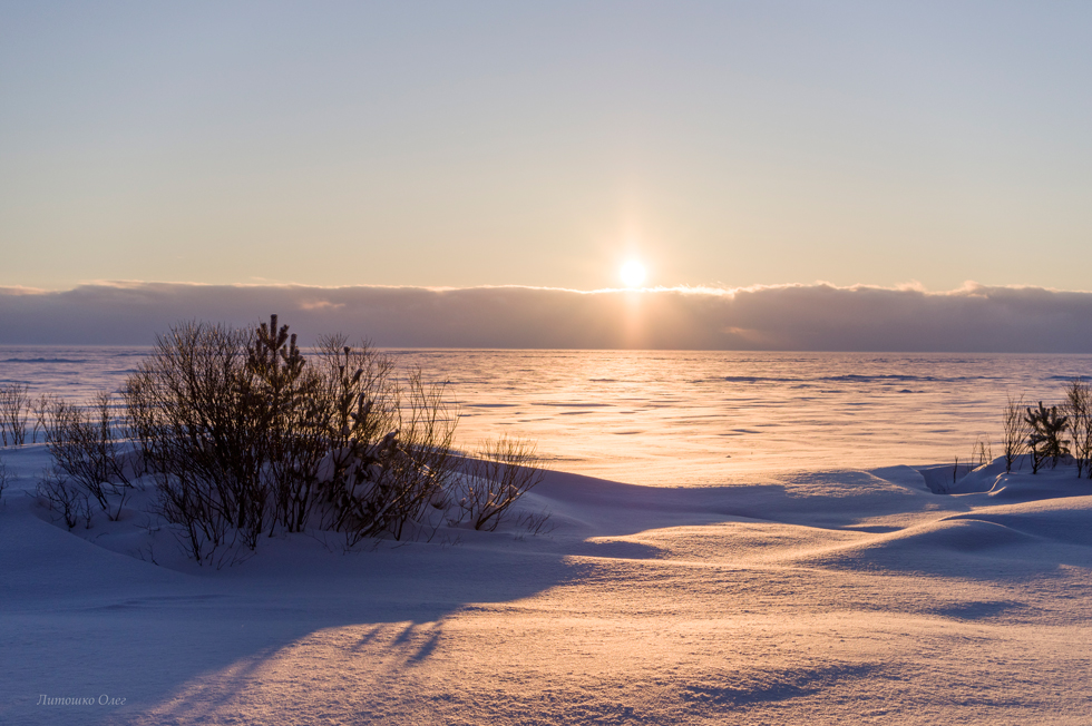 Gulf of Finland. Winter.