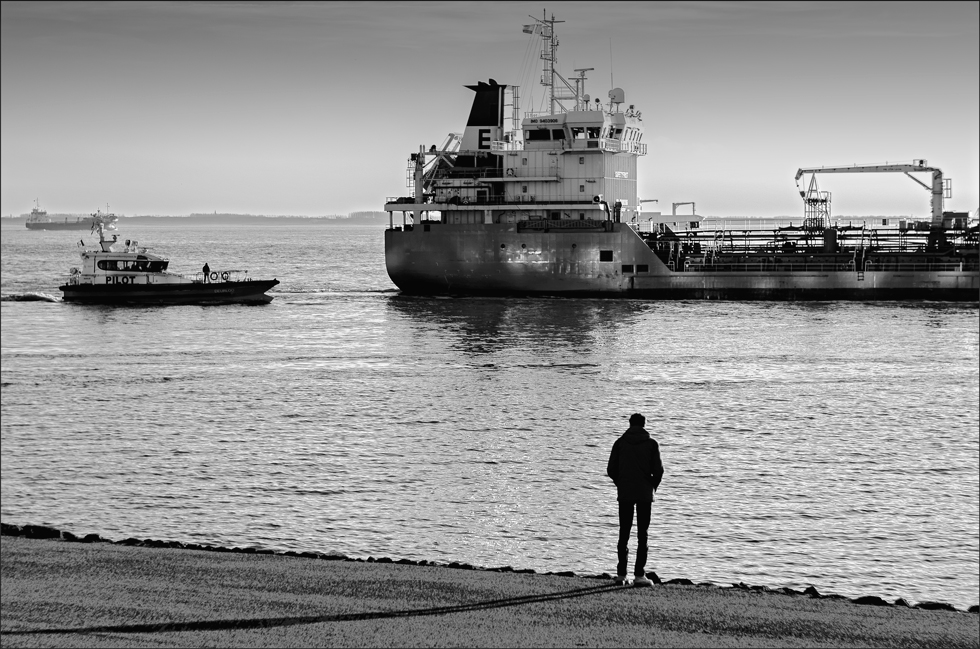 Watching the ships go by