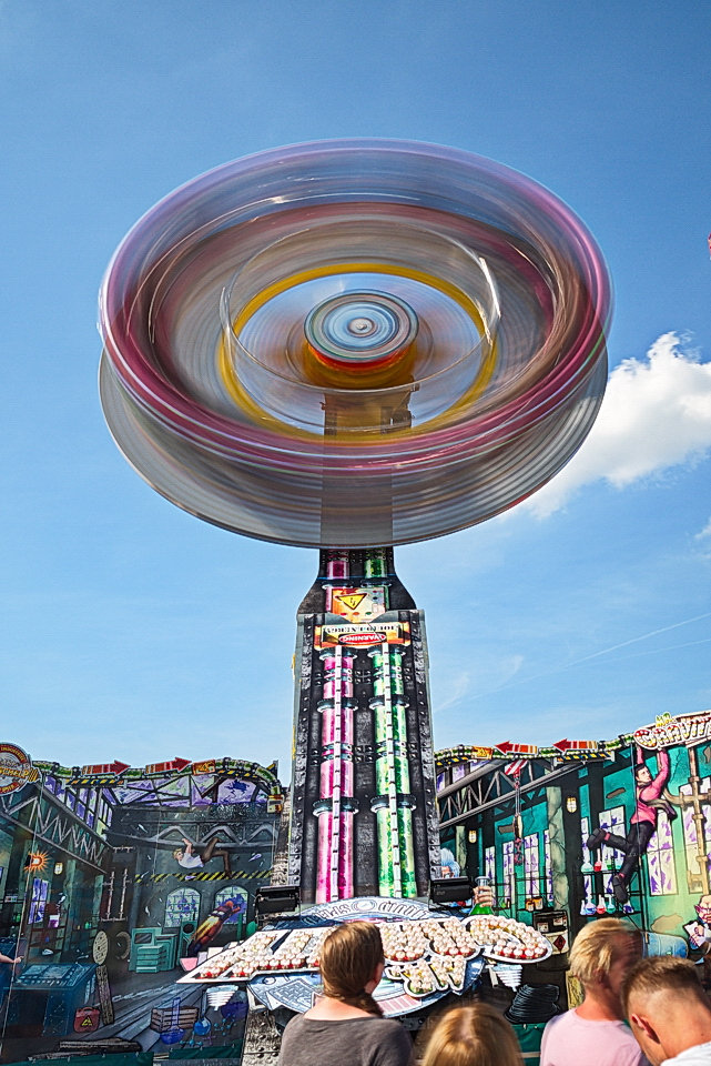 You spin me round and round ...